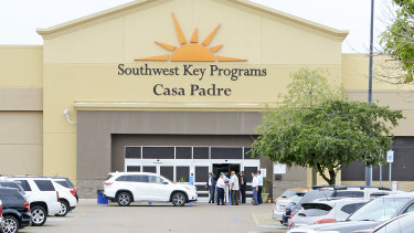 Casa Padre, a US immigration facility in Brownsville, Texas, where children are detained.