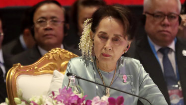 Aung San Suu Kyi is described as a nationalist who once wrote an essay referring to the need for racial purity.