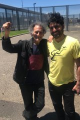 Farhad Bandesh (right) with Arnold Zable.