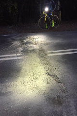 The bump could not be seen by cyclists in the dark.