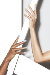 Ombré glittered hands are the easiest and longest lasting of all.