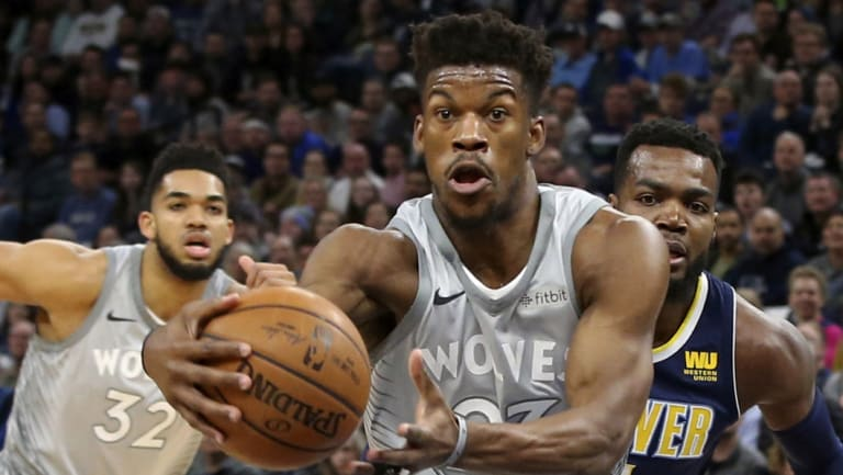 Departure: Jimmy Butler got his wish for a trade, heading to Ben Simmons' 76ers.