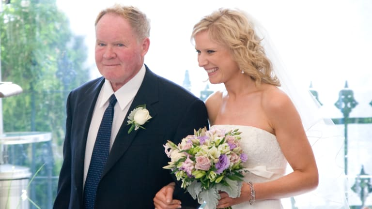 Gerard Helliar, who died in hospital in 2012,  with his daughter Kate Campbell.