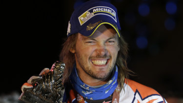 A broken wrist won't derail Toby Price's Dakar mission.