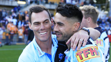 Shaun Johnson is ready for the fight at Kogarah as the Sharks enter Dragons territory.