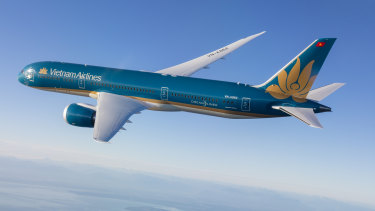 A Vietnam Airlines Boeing 787-9 Dreamliner.