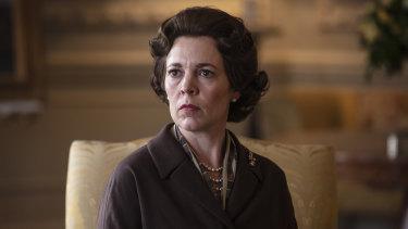 Olivia Colman portrays Queen Elizabeth II in The Crown.