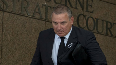 John Moncrieff leaves the Melbourne Magistrate Court on Monday.