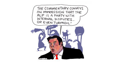 """Turmoil? In a political party? Never... "" ALP secretary Noah Carroll has a full plate."