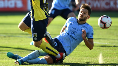 Coming in hot: Milos Ninkovic isn't worried about a knee injury he picked up against Mariners.