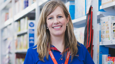 Officeworks managing director Sarah Hunter says consumers are not spending across the company's stores.