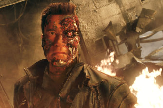Arnold Schwarzenegger (and his iconic Austrian accent) starred as a killer cyborg in <i>The Terminator </i> franchise.