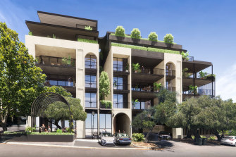 Artist's impression of the development proposed for 385 Rokeby Road in Subiaco.