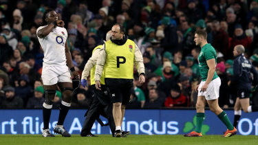 Ruled out: a knee injury suffered in England's Six Nations opener continues to trouble Maro Itoje.