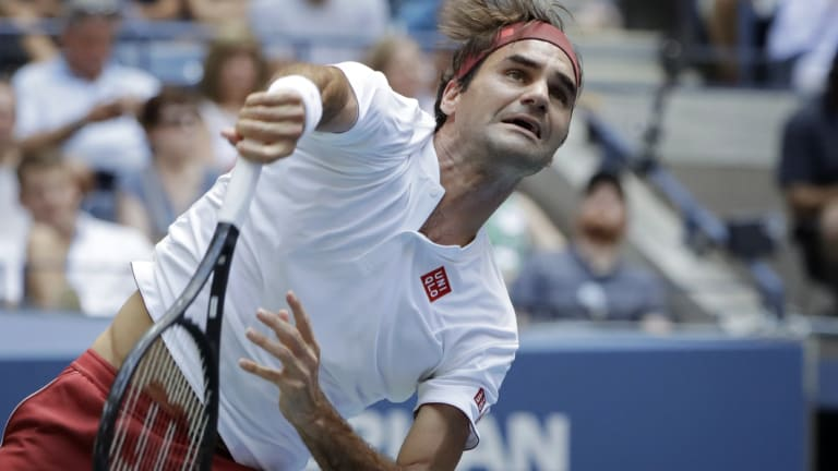 Roger Federer beat Benoit Paire in the second round of the US Open.