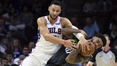Ben Simmons clashes with United's DJ Kennedy.