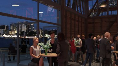 Pain with gain: artist's impression STC's renovated premises at Walsh Bay.