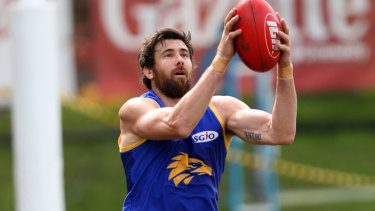 Josh Kennedy has been hampered by more leg and foot issues at Eagles training since the start of the year.