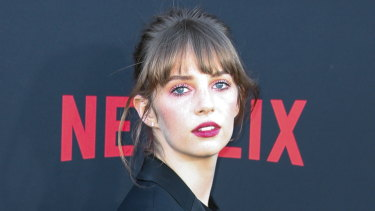 Maya Hawke on the red carpet at the California premiere of Stranger Things season three in June.