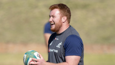 Harry Johnson-Holmes has had a whirlwind week after joining the Wallabies in South Africa.