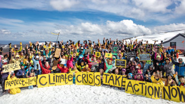 Mount Hotham ski resort locals and visitors came together to support the ​Global Climate Strike​.