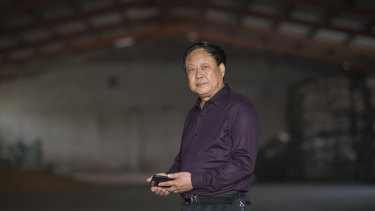 """Everybody is afraid of being held accountable"": Sun Dawu at his pig farm in Hebei Province."