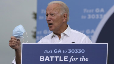 Joe Biden on the hustings in Georgia.