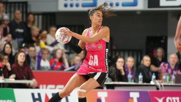 Maria Folau in action for Adelaide.