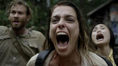 Terror in the jungle: Tatjana Marjanovic (centre) with Paul Haapaniemi and Kayli Tran in Monsters of Man.