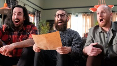 Zachary Ruane, Mark Samual Bonanno and Broden Kelly are responsible for the inspired silliness of Aunty Donna.