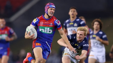 Kalyn Ponga turns on the afterburners in the big win over North Queensland.