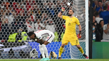 Fans unleashed a racist tirade on social media against Marcus Rashford who missed his penalty in the Euro final.