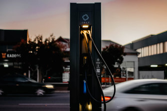 A JOLT fast charger; more are set to be installed in Australia.