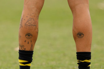 The eyes have it: some of Jason Castagna's tattoos.