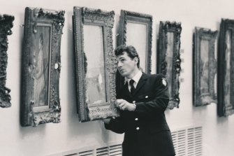 Constable Steve Wilson, one of 25 policemen who searched the National Gallery of Victoria for the missing Picasso.