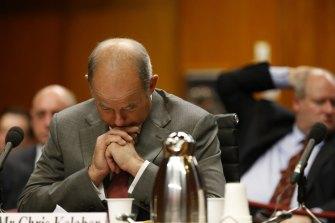 Former IOOF chief executive Chris Kelaher at a Senate hearing in 2015.