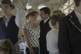 """Eve Ash's film, Man on the Bus, includes a re-enactment of the meeting between Martha Ash and Ronald """"Dixie"""" Lee."""