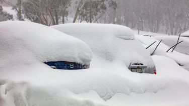 Heavy snowfalls at  Hotham earlier in August.