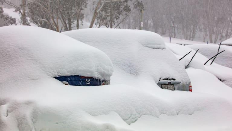 Heavy snowfalls at  Hotham earlier in August.