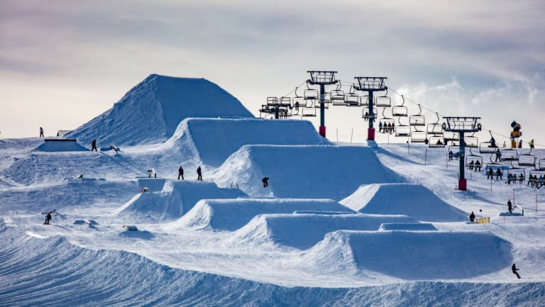 Late afternoon at Mount Hotham on Sunday.
