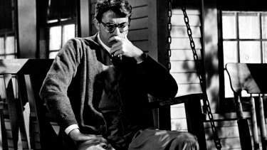 Gregory Peck as Atticus Finch in a scene from To Kill A Mockingbird.