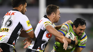 On the defensive: James Maloney says questions about his defence are annoying.