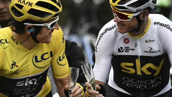 With awkwardness aside, Tour champ saves his biggest thanks for Froome