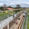 Train line closures after car rolls onto train tracks south of Perth