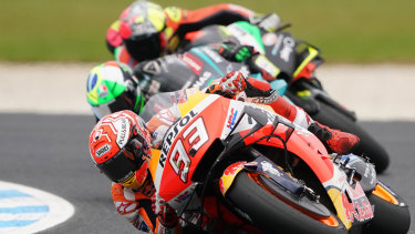 Spaniard Marco Marquez won his third Australian MotorCycle Grand Prix at Phillip Island