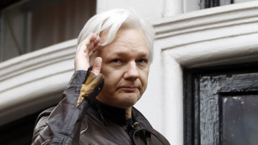 WikiLeaks founder Julian Assange pictured at the embassy in May, 2017.
