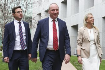 David Littleproud is demanding bigger financial incentives for farmers, while Barnaby Joyce has demanded to know the cost of any climate policy change and Bridget McKenzie says they won't be signing any blank cheques.