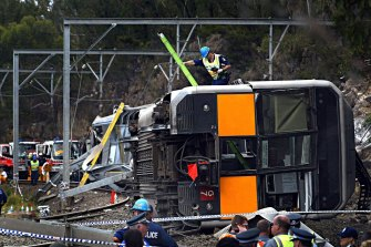 Seven people were killed and dozens injured when a Tangara train derailed near Waterfall station, south of Sydney, in January 2003.