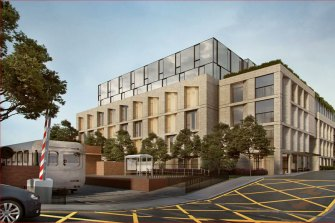 An artist's impression of the Lifeview aged care home in Prahran, approved by Planning Minister Richard Wynne despite local opposition.