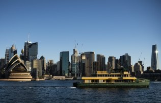 One of three new Emerald-class ferries sailing into Sydney for the first time last month.